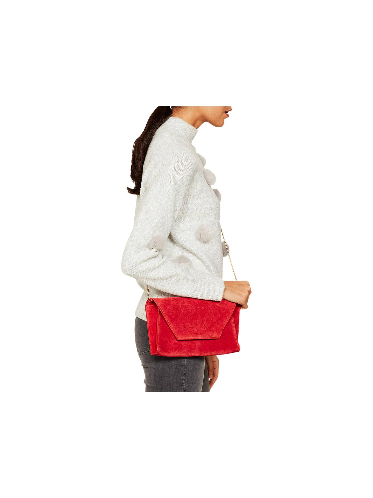 42e2827797914 Mint Velvet Millie Suede Clutch Bag at John Lewis   Partners