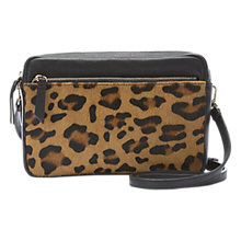 Buy Mint Velvet Poppy Camera Bag, Leopard Online at johnlewis.com