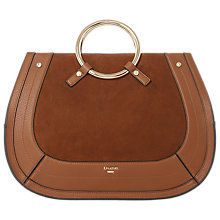 Buy Dune Dorseey Large Suede Ring Handle Grab Bag Online at johnlewis.com
