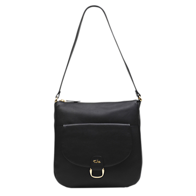 Tula Front Tab Originals Medium Leather Shoulder Bag