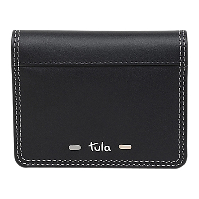 Tula Violet Leather Small Card Holder