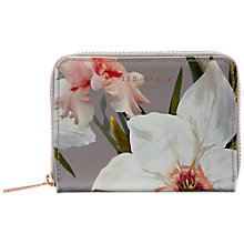 Buy Ted Baker Vallie Chatsworth Leather Coin Purse, Grey Online at johnlewis.com