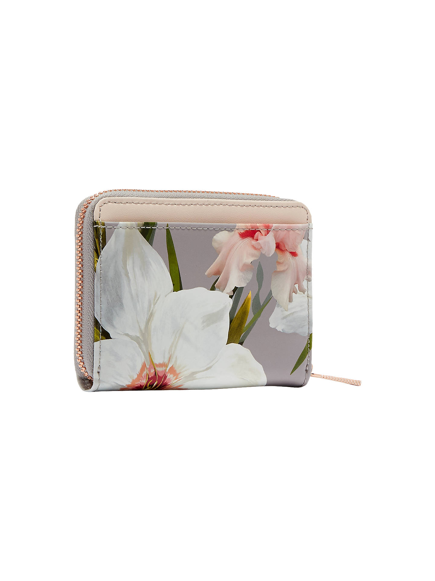 New Ted Baker Small Coin Purse /& Card Holder Chatsworth Bloom Vallie Grey