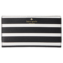 Buy kate spade new york Hyde Park Stacey Leather Continental Purse, Black/Cream Online at johnlewis.com