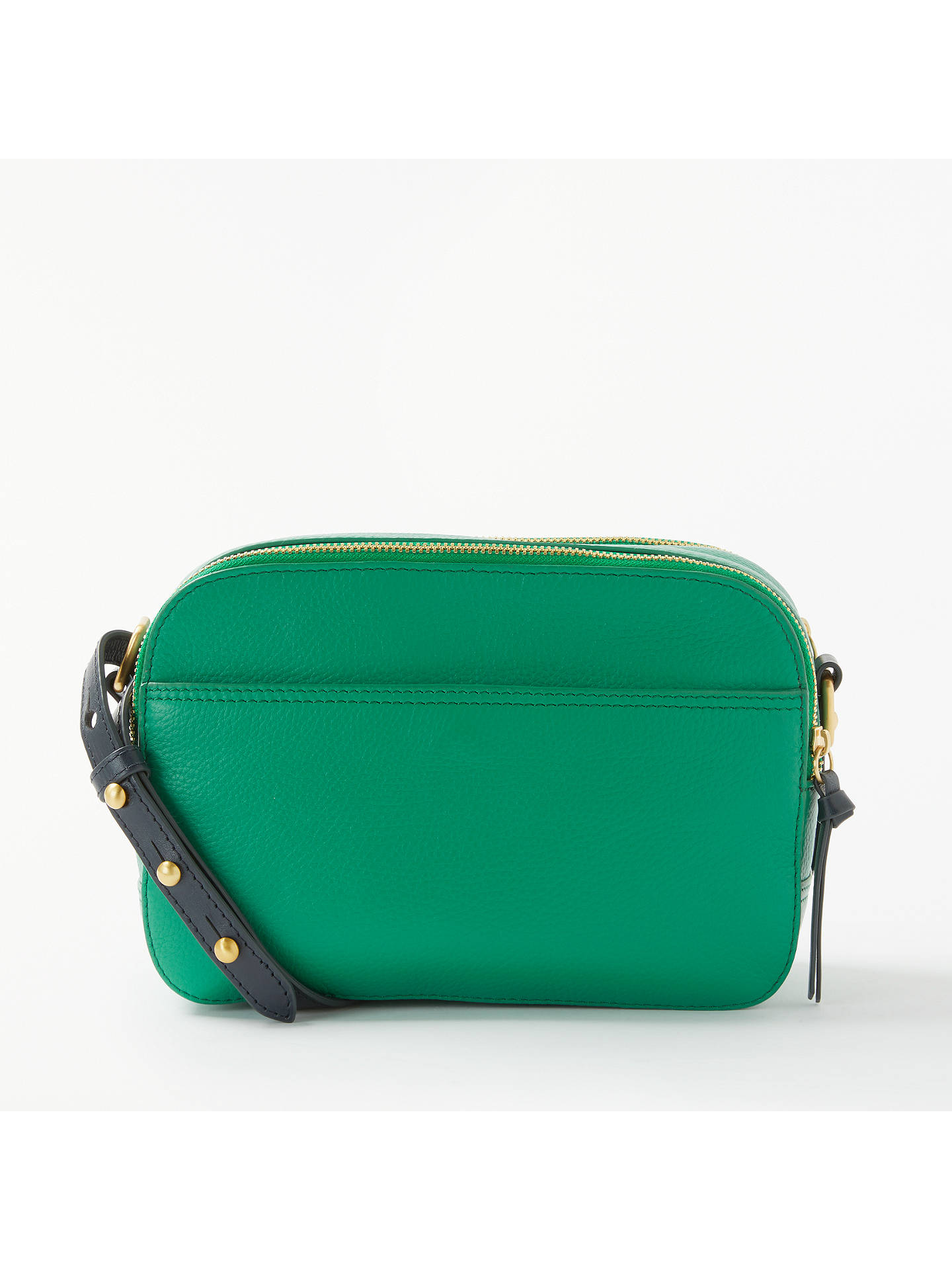 bc7ce3e754f BuyJohn Lewis   Partners Rhea Leather Camera Bag, Green Navy Online at  johnlewis.