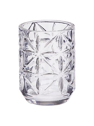 John Lewis U0026 Partners Isabella Glass Bathroom Tumbler