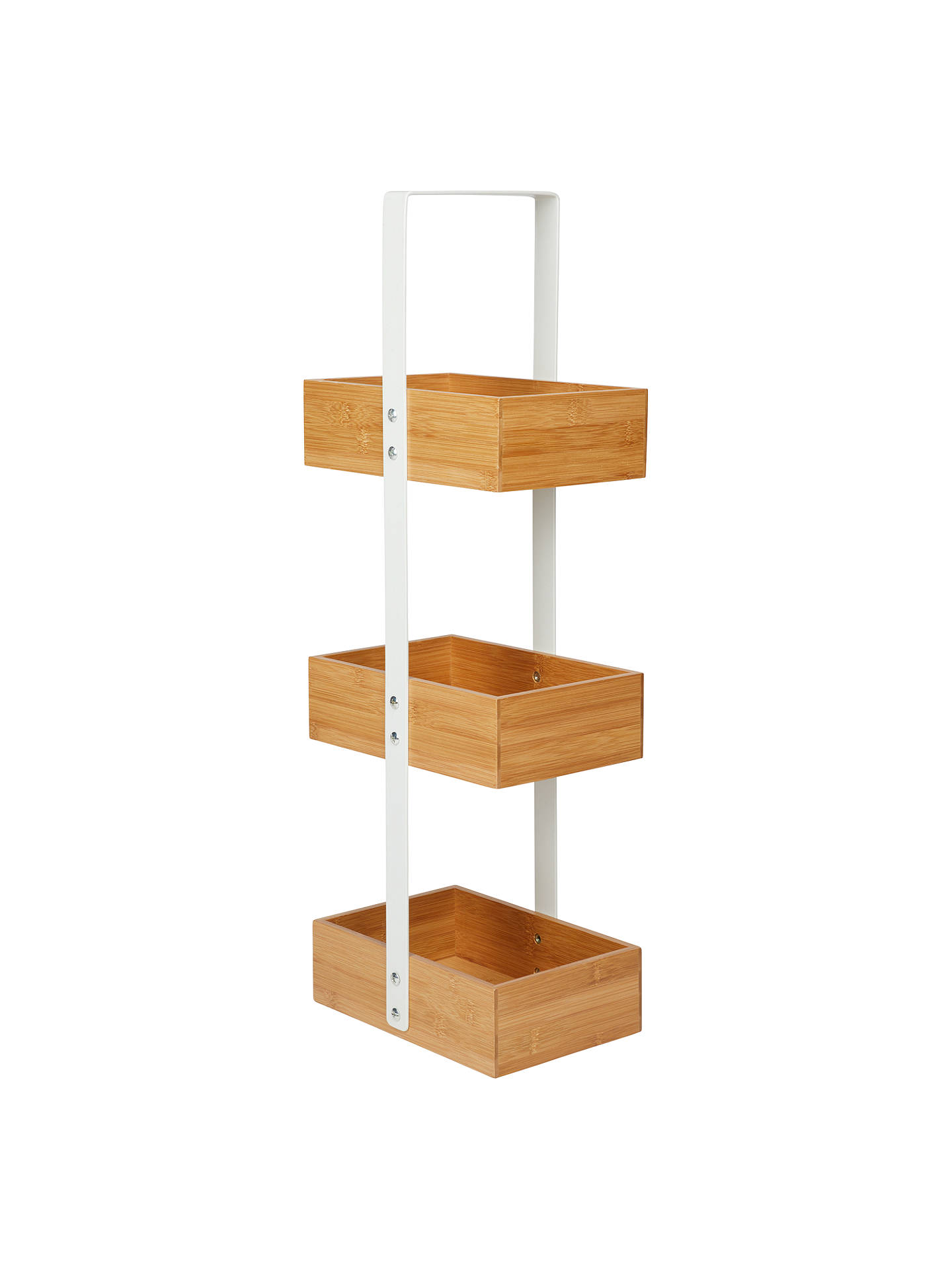 House By John Lewis Bamboo 3 Tier Bathroom Caddy Online At Johnlewis