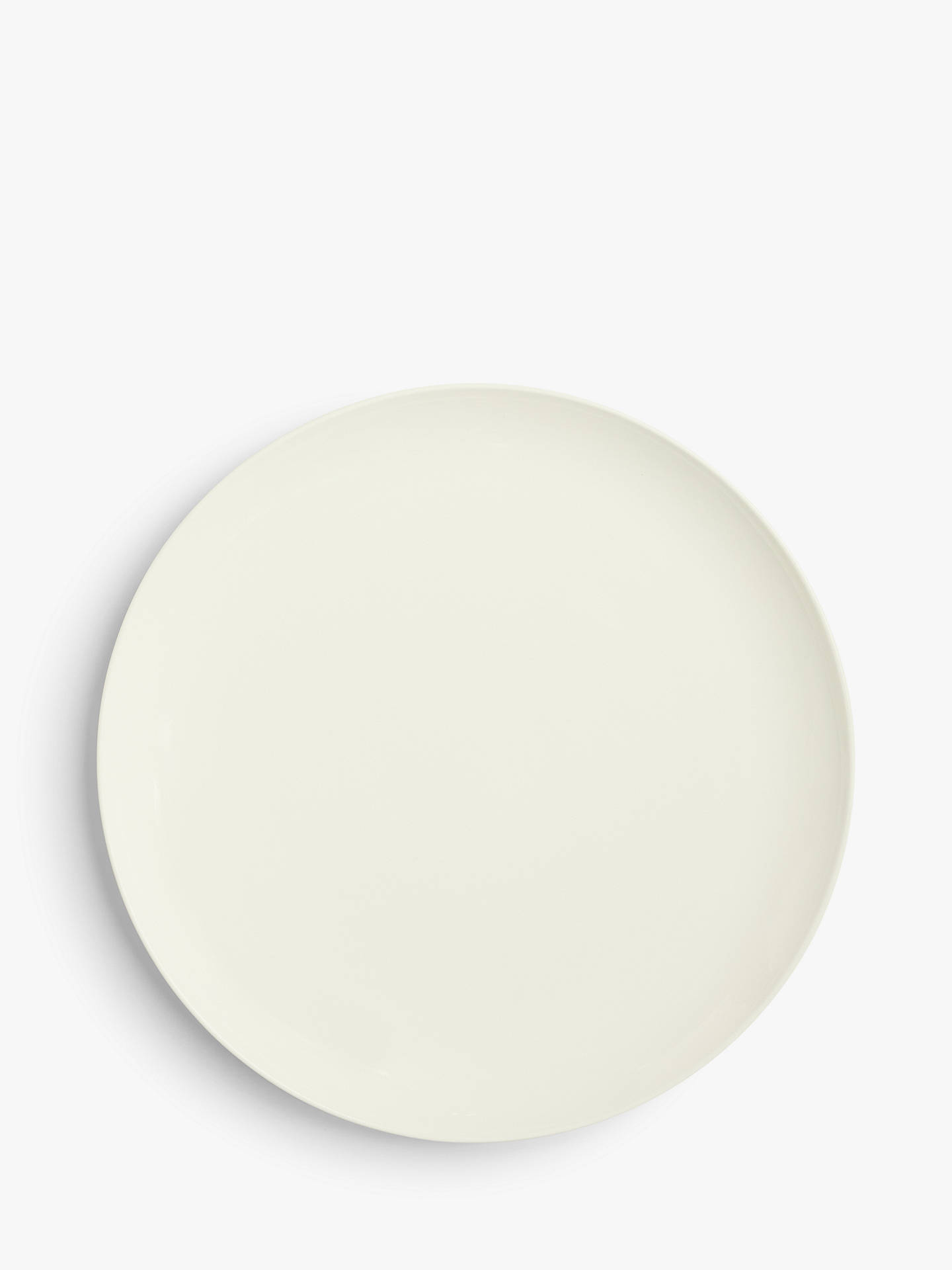 Buy John Lewis & Partners Contour Bone China Dinner Plate, White, Dia.27.6cm Online at johnlewis.com