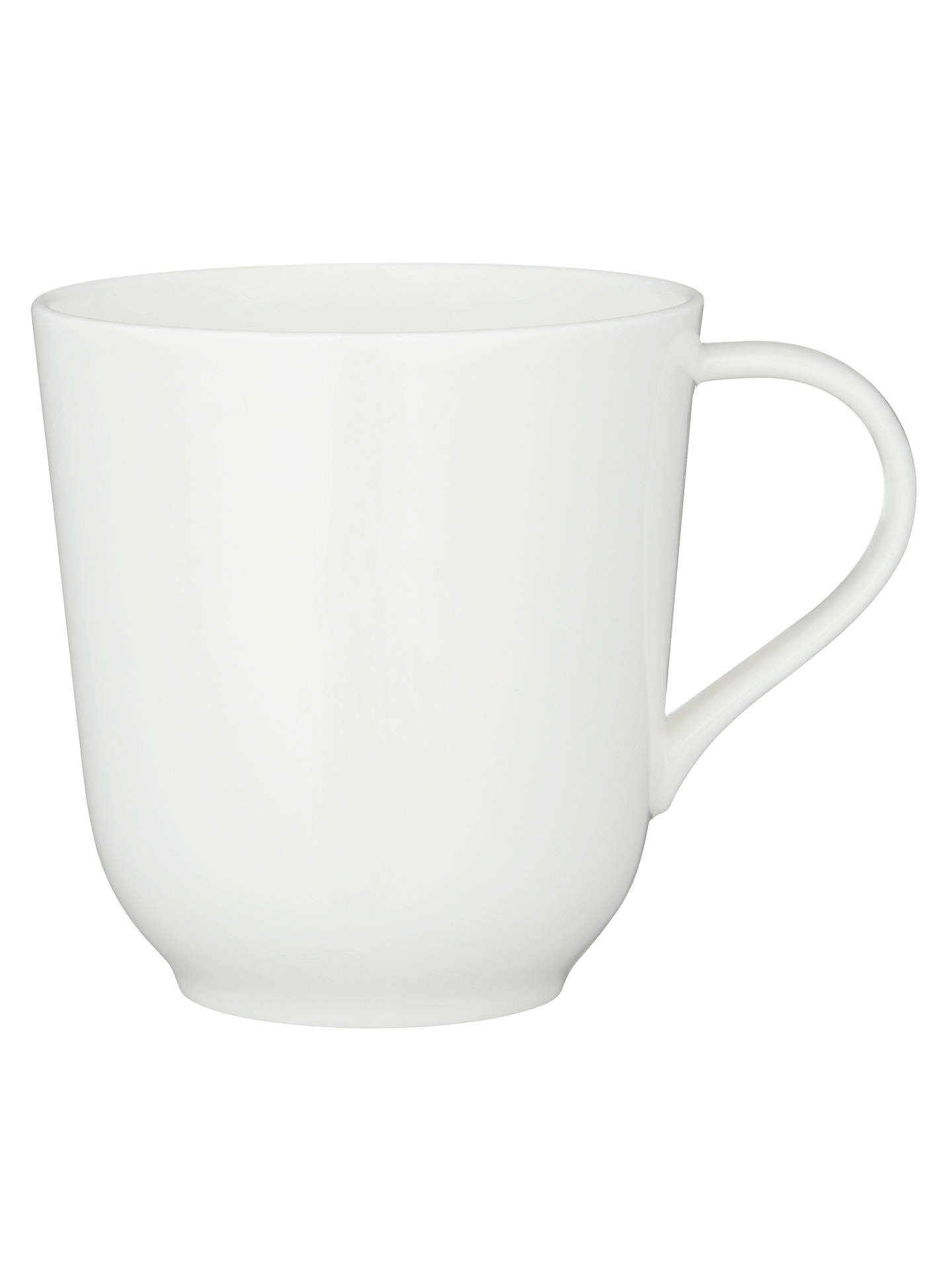 Buy John Lewis & Partners Contour Bone China Mug, White, 400ml Online at johnlewis.com