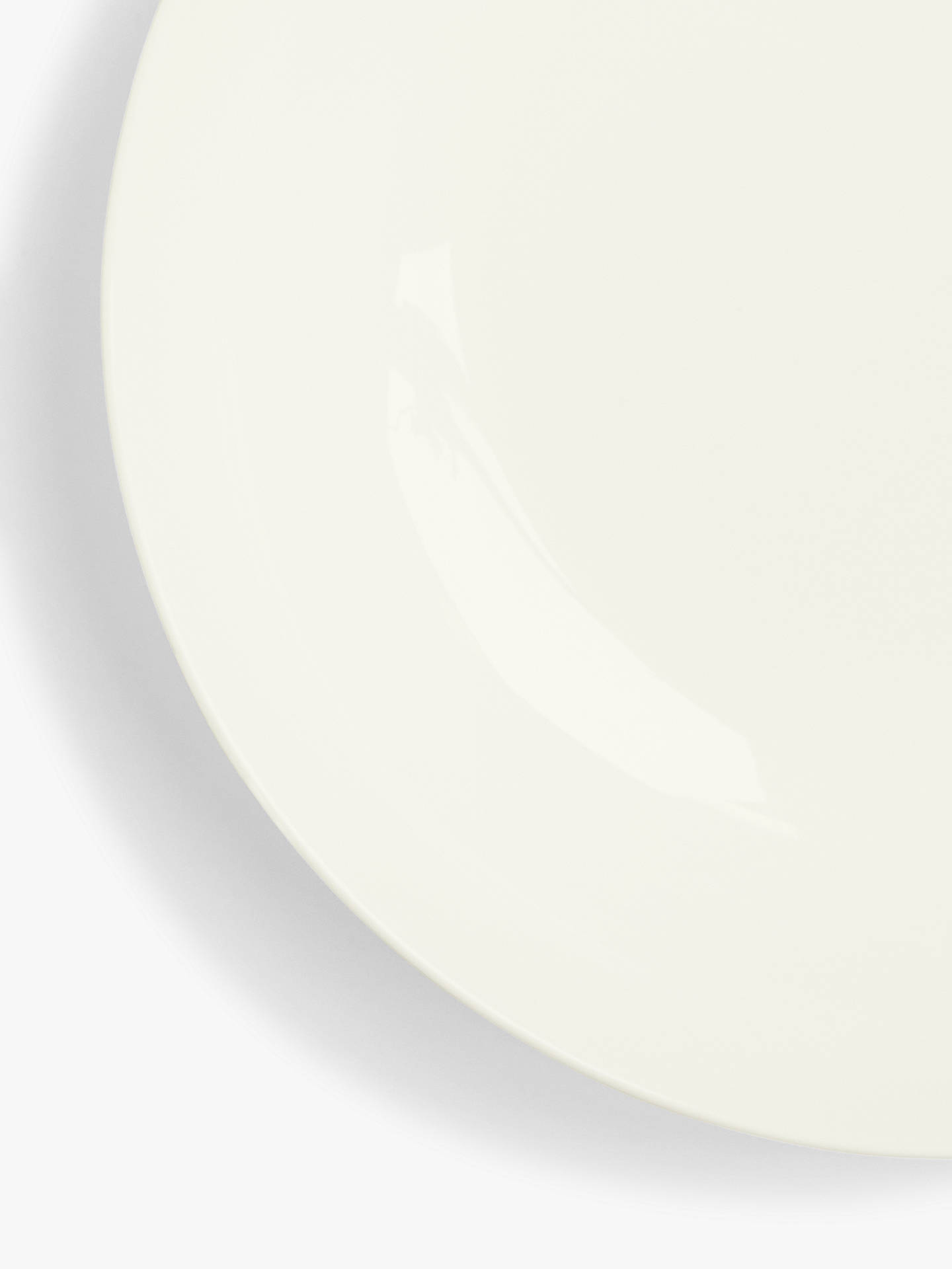 BuyJohn Lewis & Partners Contour Bone China Pasta Bowl, White, Dia.22.5cm Online at johnlewis.com