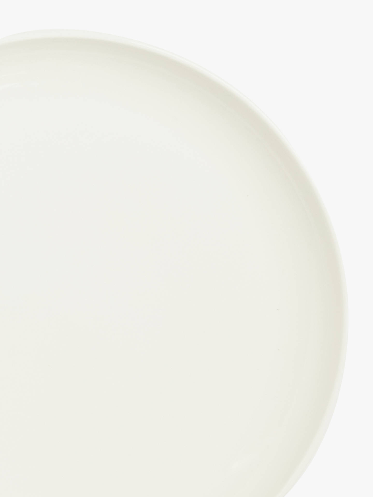 BuyJohn Lewis & Partners Contour Bone China Small Side Plate, White, Dia.18cm Online at johnlewis.com