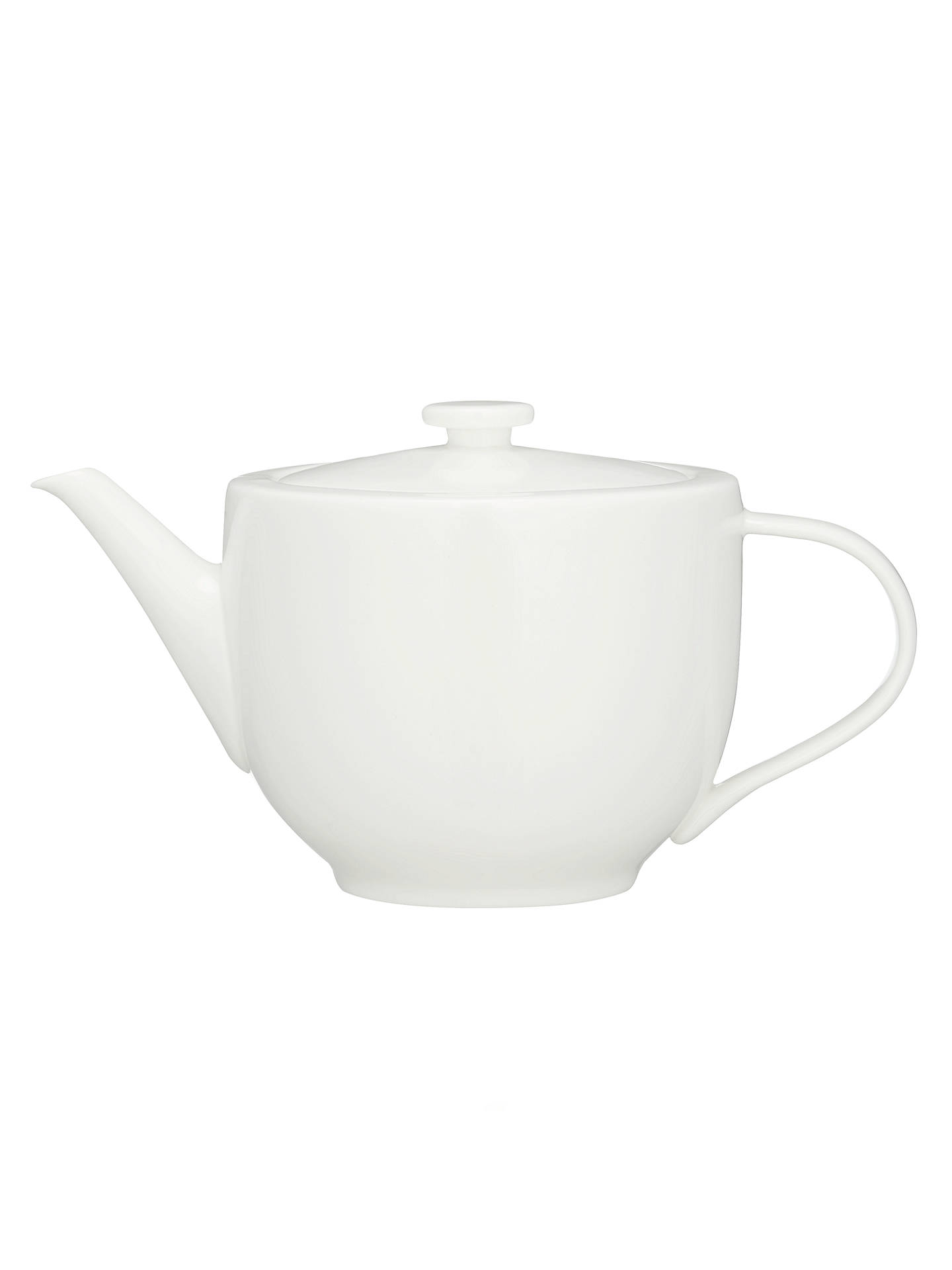 BuyJohn Lewis & Partners Contour Bone China 4 Cup Teapot, White, 1.1L Online at johnlewis.com