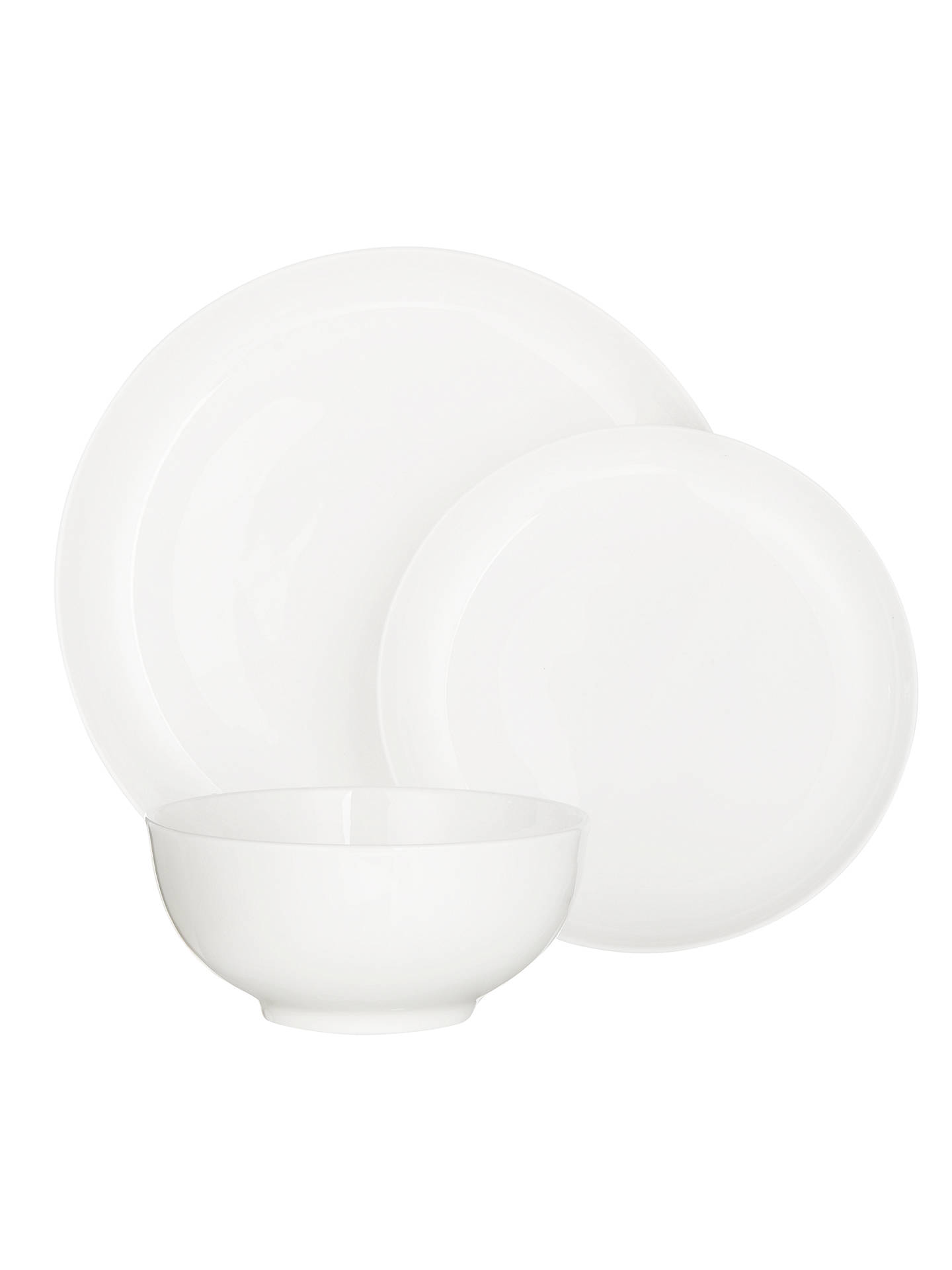 BuyJohn Lewis & Partners Contour Bone China Dinnerware Set, White, 3 Piece Online at johnlewis.com