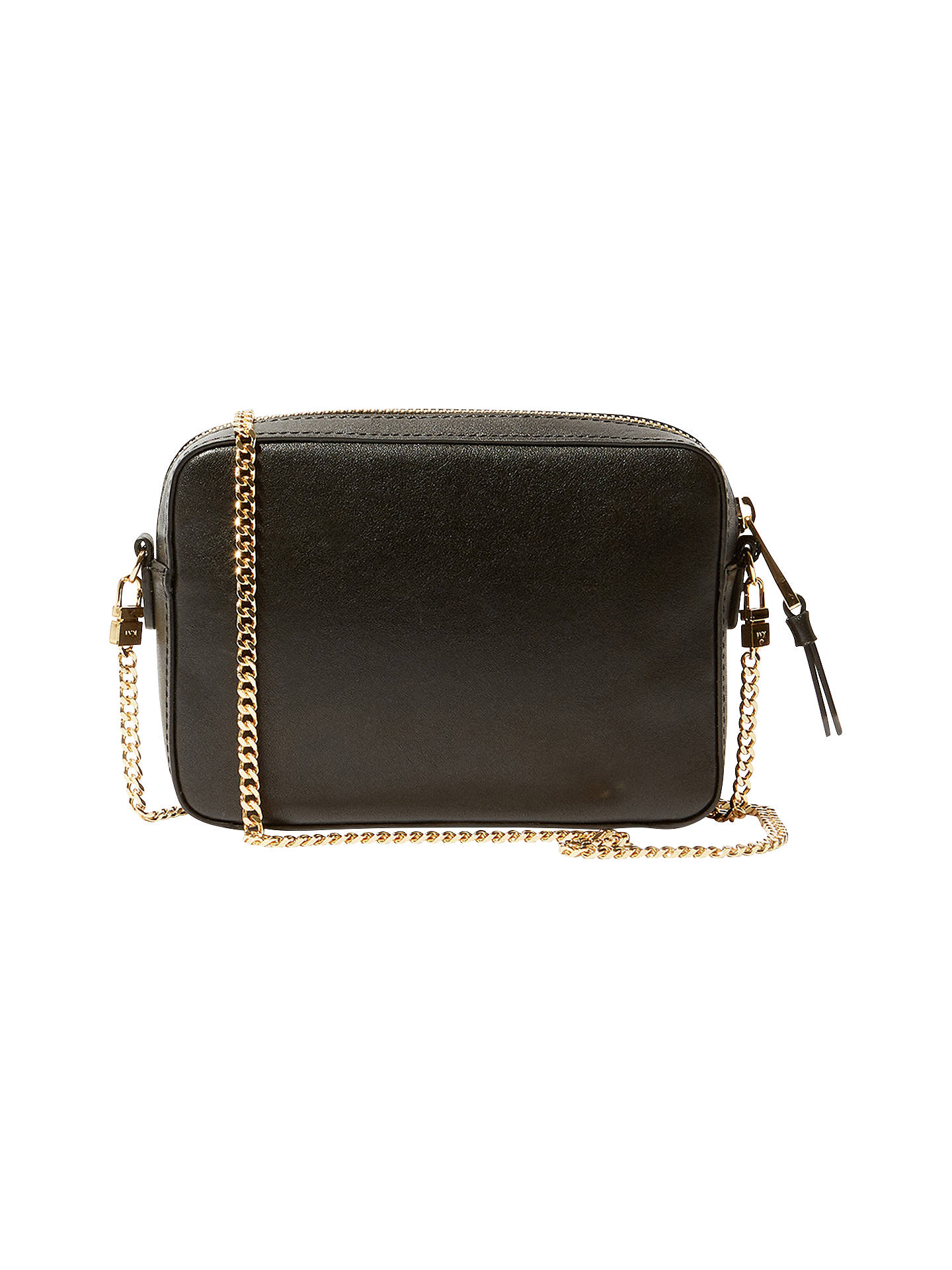 61cc6cac64c Buy Karen Millen Leather Small Cross Body Bag, Black Online at  johnlewis.com ...
