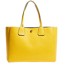 Buy Karen Millen East West Leather Tote Bag, Yellow Online at johnlewis.com