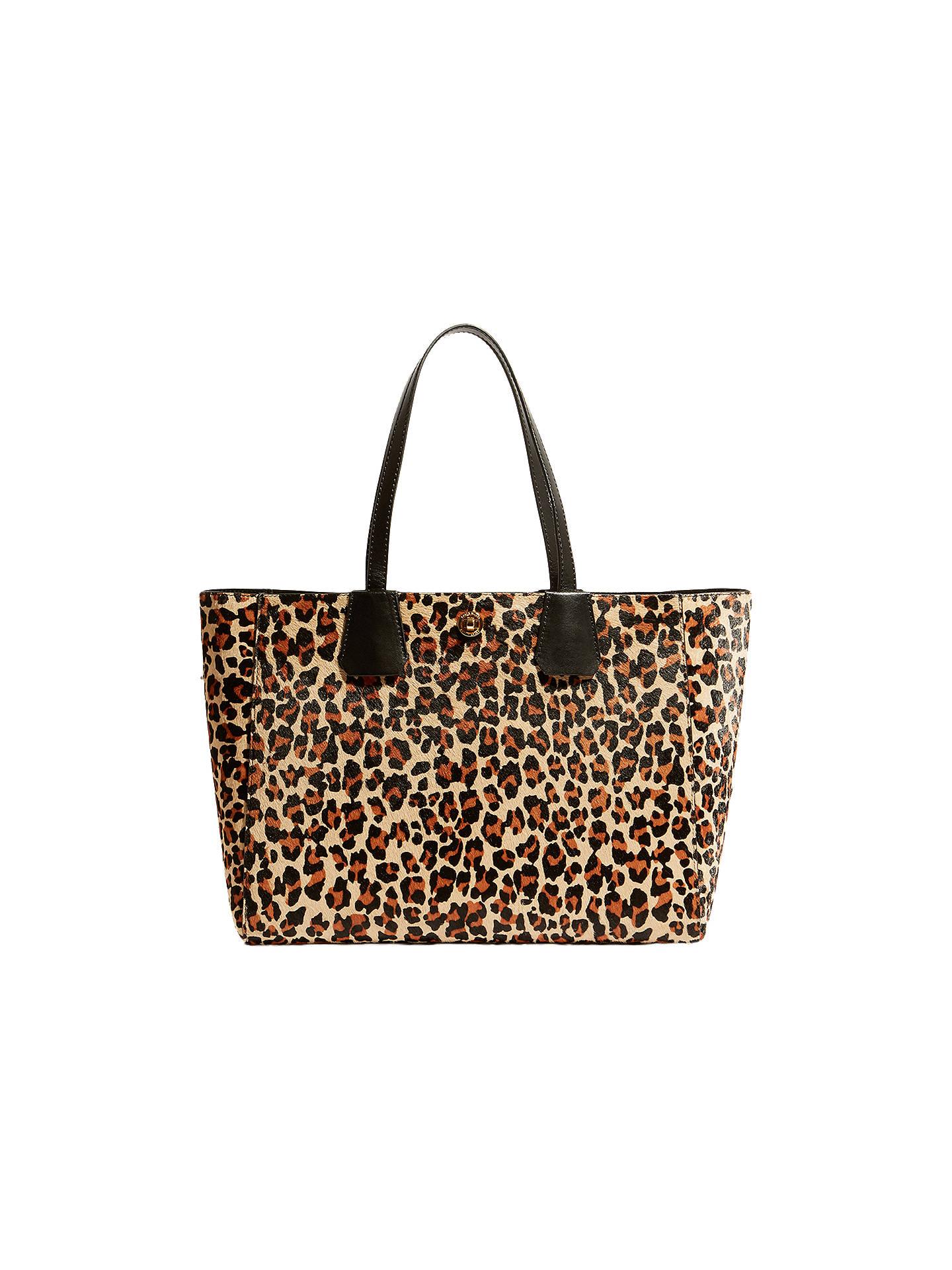 4fd17b5b79a3 Buy Karen Millen Leopard Print Tote Bag, Multi Online at johnlewis.com ...