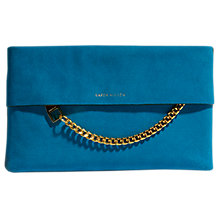Buy Karen Millen Leather Chain Zip Clutch Bag Online at johnlewis.com