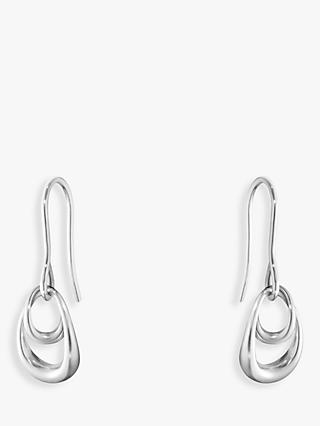 Georg Jensen Offspring Sterling Silver Hook Earrings, Silver