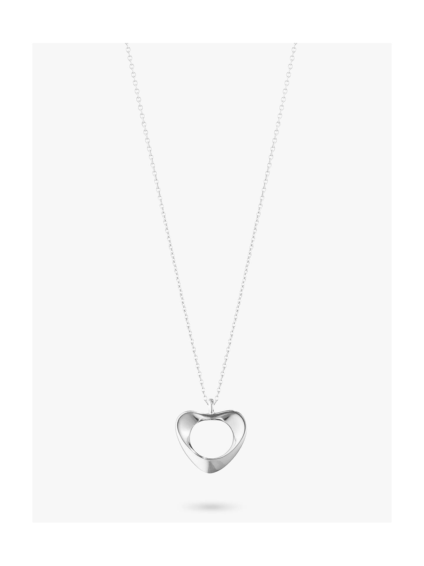 923849484 Buy Georg Jensen Sterling Silver Small Heart Necklace, Silver Online at  johnlewis.com ...