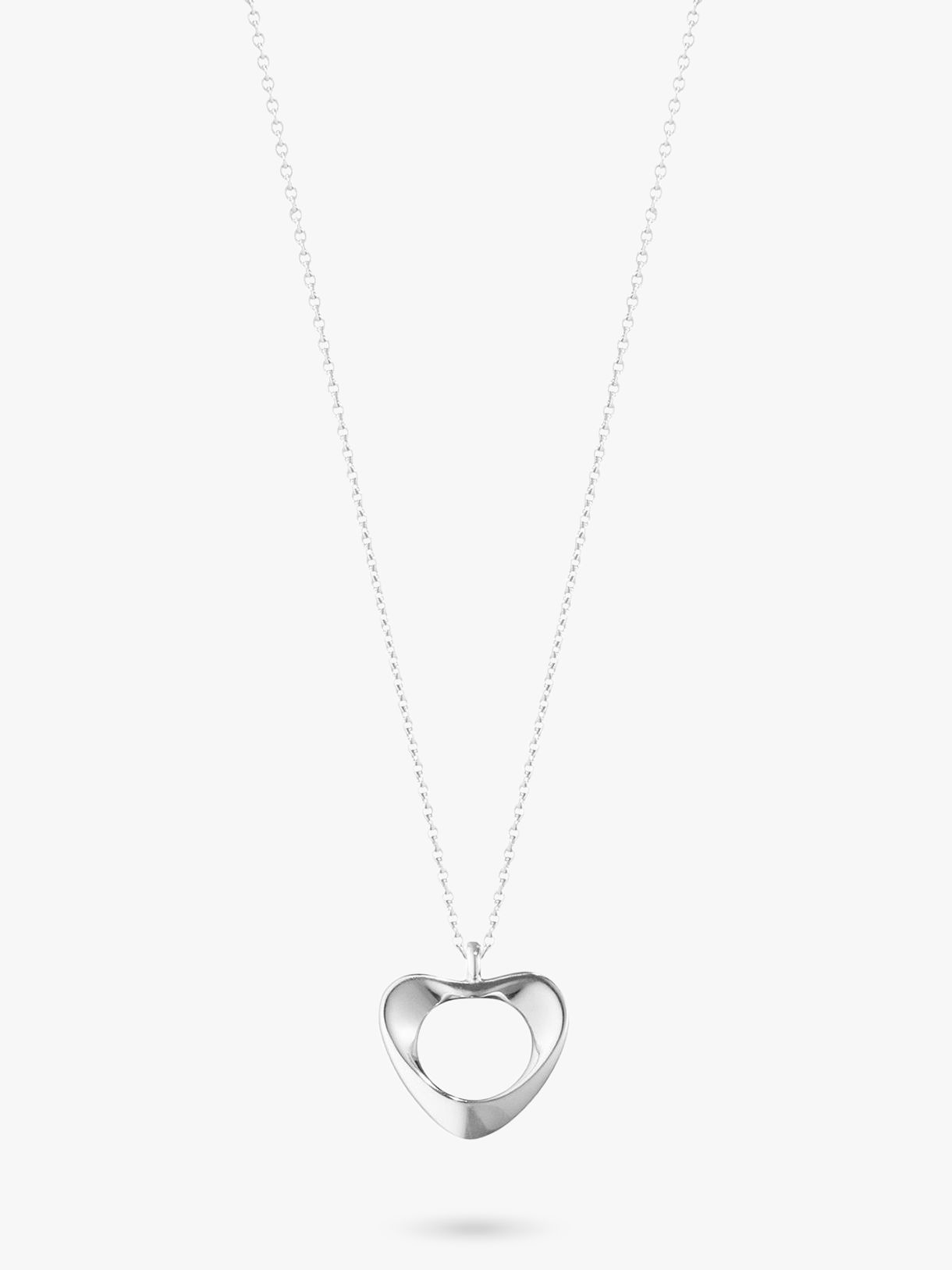 Georg Jensen Georg Jensen Sterling Silver Small Heart Necklace, Silver