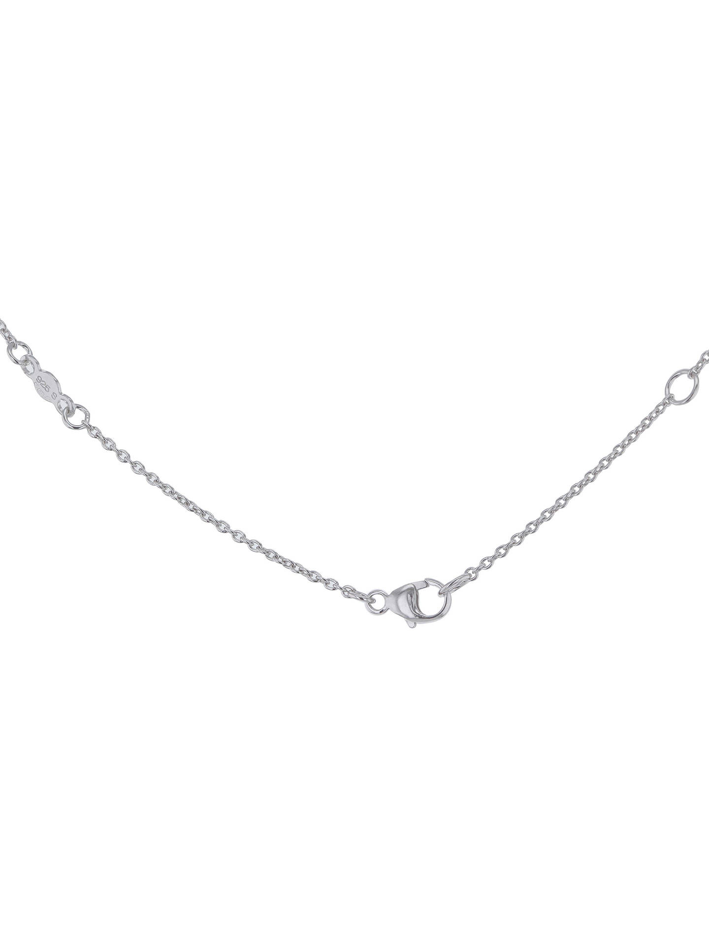 Buy Georg Jensen Sterling Silver Small Heart Necklace, Silver Online at johnlewis.com