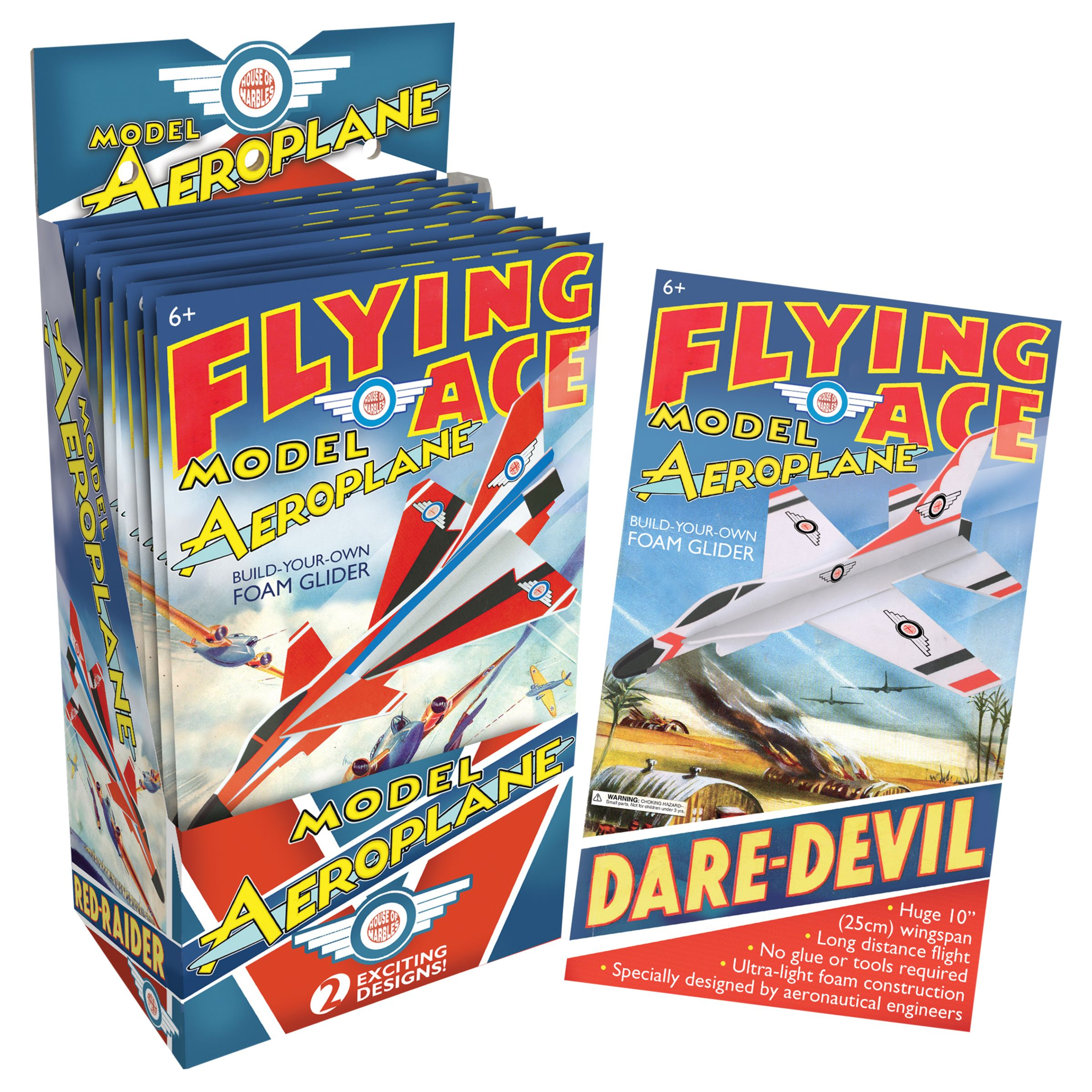 House of Marbles House of Marbles Flying Ace Build-Your-Own Foam Glider