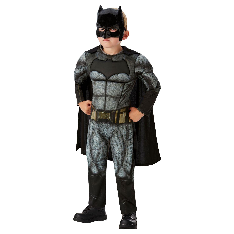 Boys Child Batman Costume T Shirt Mask /& Removable Cape Outfit