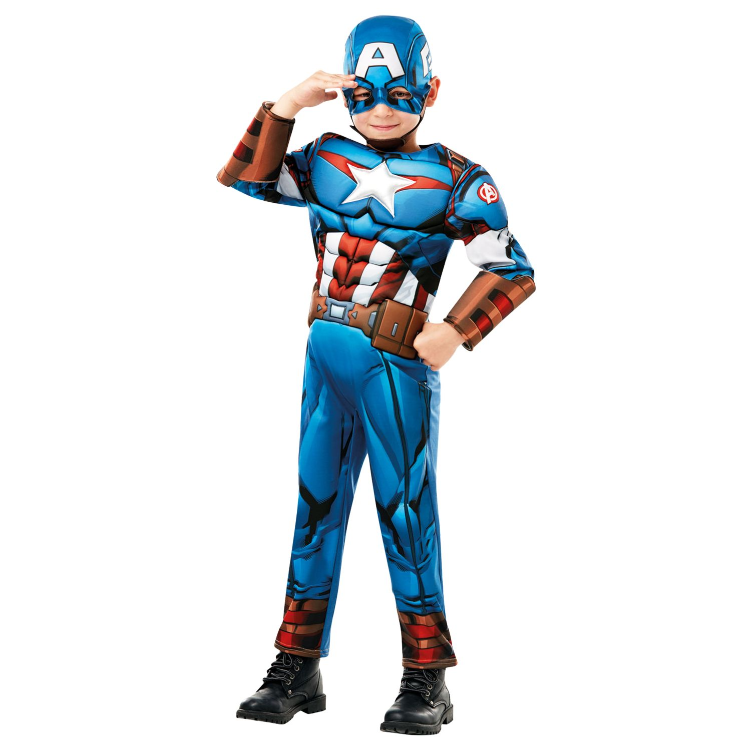 captain america deluxe children's costume at john lewis & partners