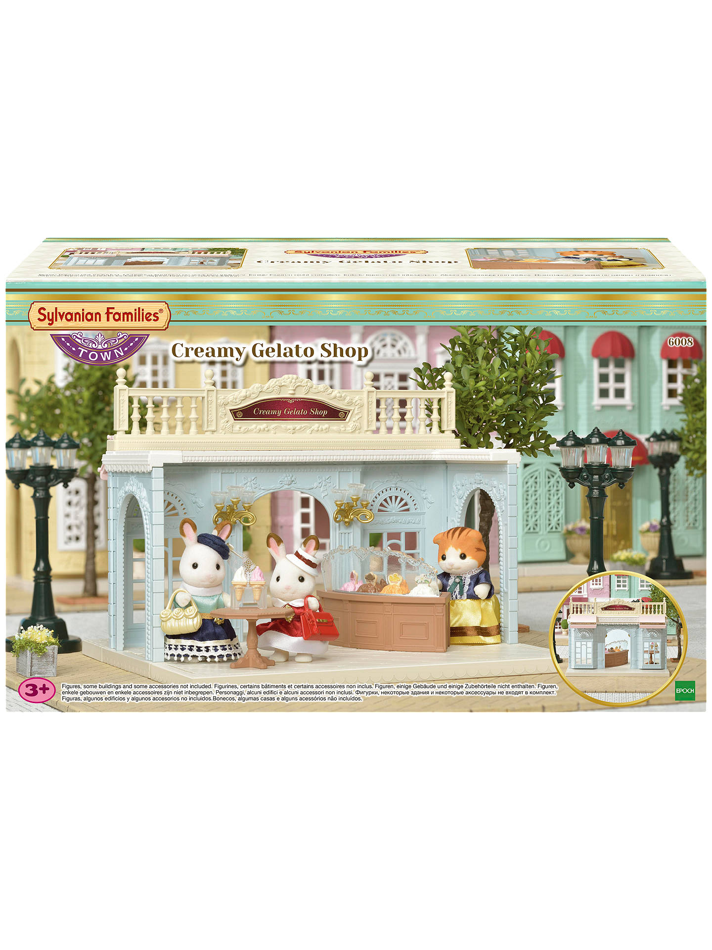 Buysylvanian families town series creamy gelato shop set online at johnlewis com