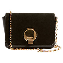 Buy Karen Millen Disc Fastening Bag, Black Online at johnlewis.com