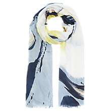 Buy Jigsaw Floral Wave Scarf, Blue Online at johnlewis.com