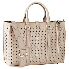 Buy Reiss Picton Leather Laser Cut Tote Bag Online at johnlewis.com