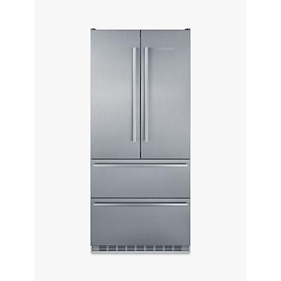 Liebherr CBNES6256 Freestanding American Style Fridge Freezer, 91cm Wide, A++ Energy Rating, Silver