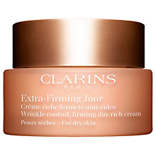 Buy Clarins Extra-Firming Day Cream - Dry Skin, 50ml Online at johnlewis.com
