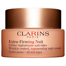 Buy Clarins Extra-Firming Night Cream - All Skin Types, 50ml Online at johnlewis.com