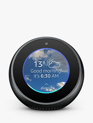 "Amazon Echo Spot Smart Speaker with 2.5"" Screen & Alexa Voice Recognition & Control, Black x 2 (Bundle)"