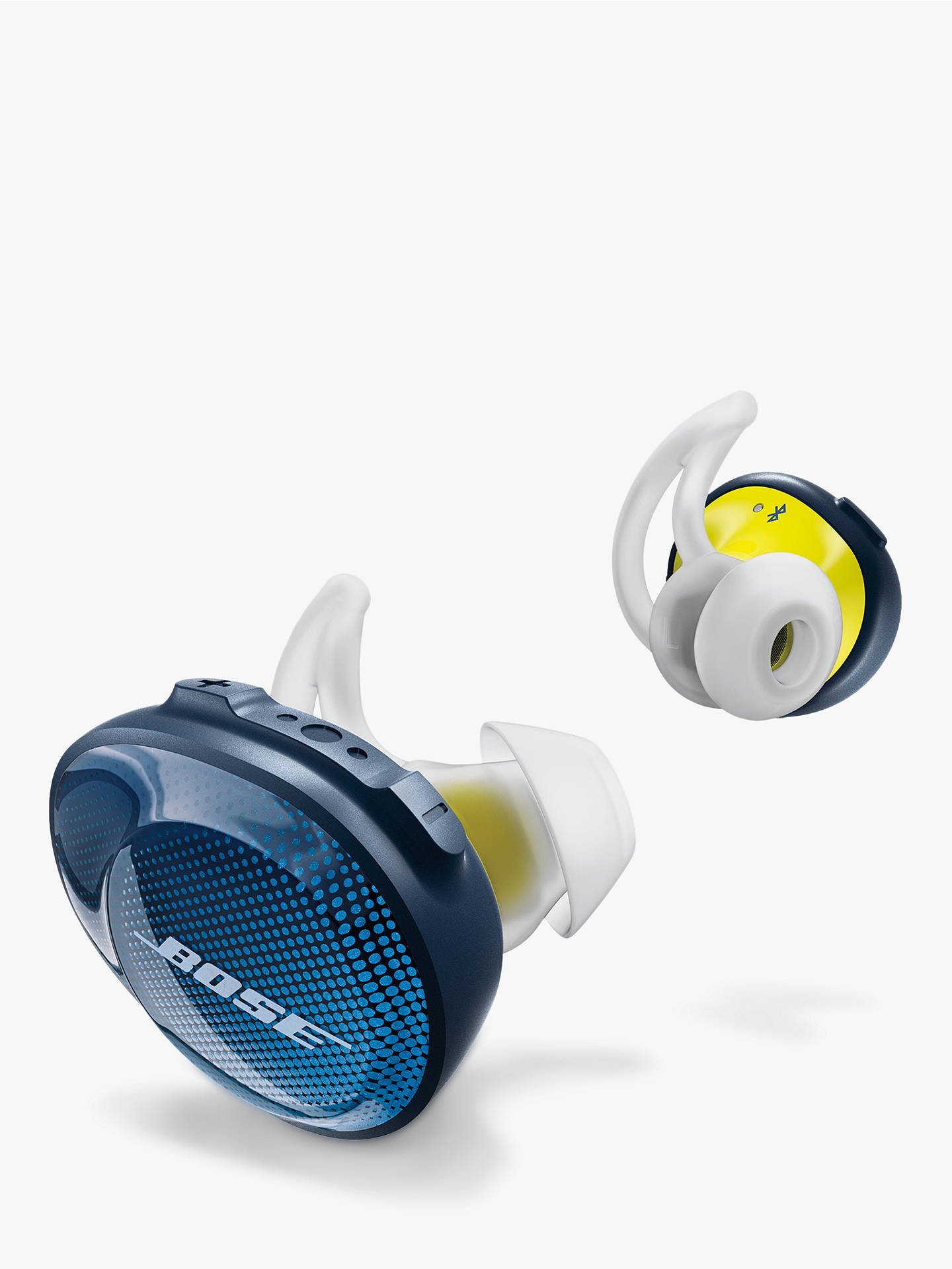 Buy Bose® SoundSport™ Free True Wireless Sweat & Weather-Resistant Bluetooth In-Ear Headphones with Mic/Remote, Blue Online at johnlewis.com