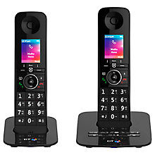 Buy BT Premium Phone Digital Cordless Phone with 100% Nuisance Call Blocking, Answering Machine & Mobile Sync, Twin DECT Online at johnlewis.com