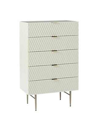 west elm Audrey 5 Drawer Chest, Parchment