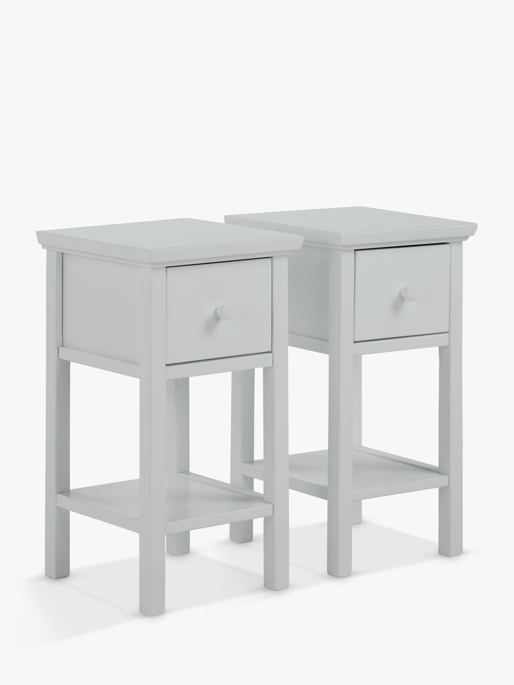 John Lewis Partners Wilton Set Of 2 Bedside Tables Grey