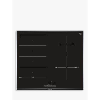 Image of Bosch PXE675BB1E Touch Control 61cm Four Zone Induction Hob With Flex Zone - Black