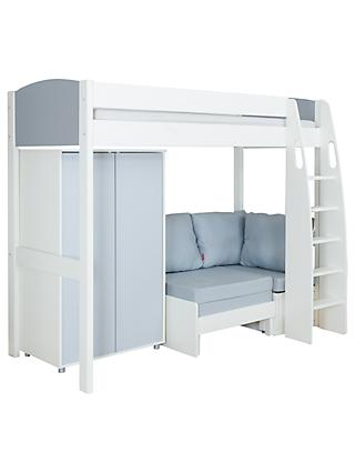Stompa Uno S Plus High-Sleeper Bed with Wardrobe and Chair Bed