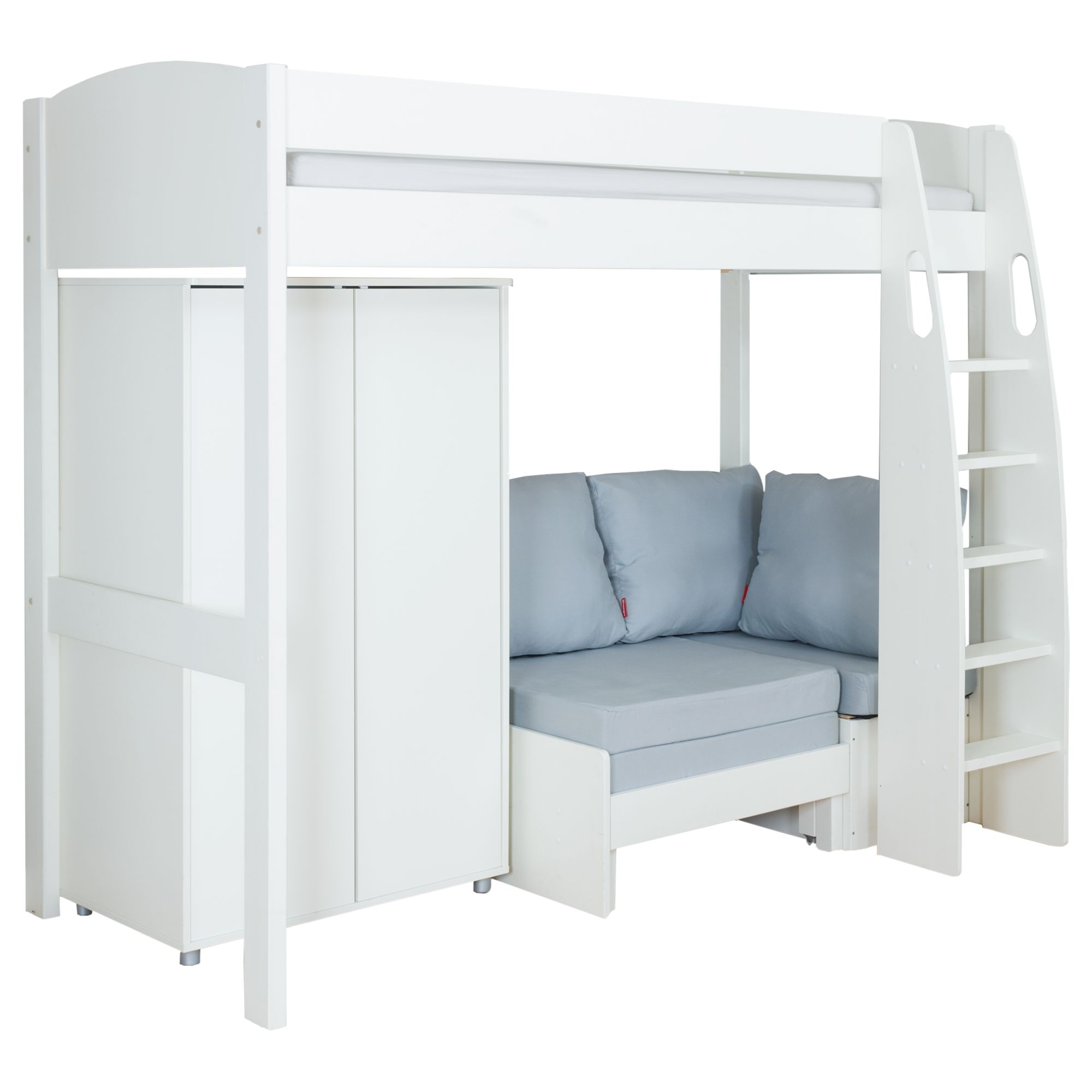 Stompa Stompa Uno S Plus High-Sleeper Bed with Wardrobe and Chair Bed