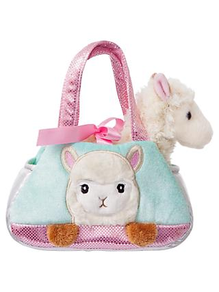 Aurora World Fancy Pals Peek A Boo Alpaca Soft Toy