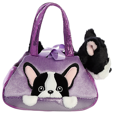 Image of Aurora World Fancy Pals Peek A Boo French Bulldog Soft Toy