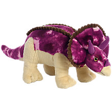 "Buy Aurora World Triceratops 13"" Dinosaur Soft Toy Online at johnlewis.com"