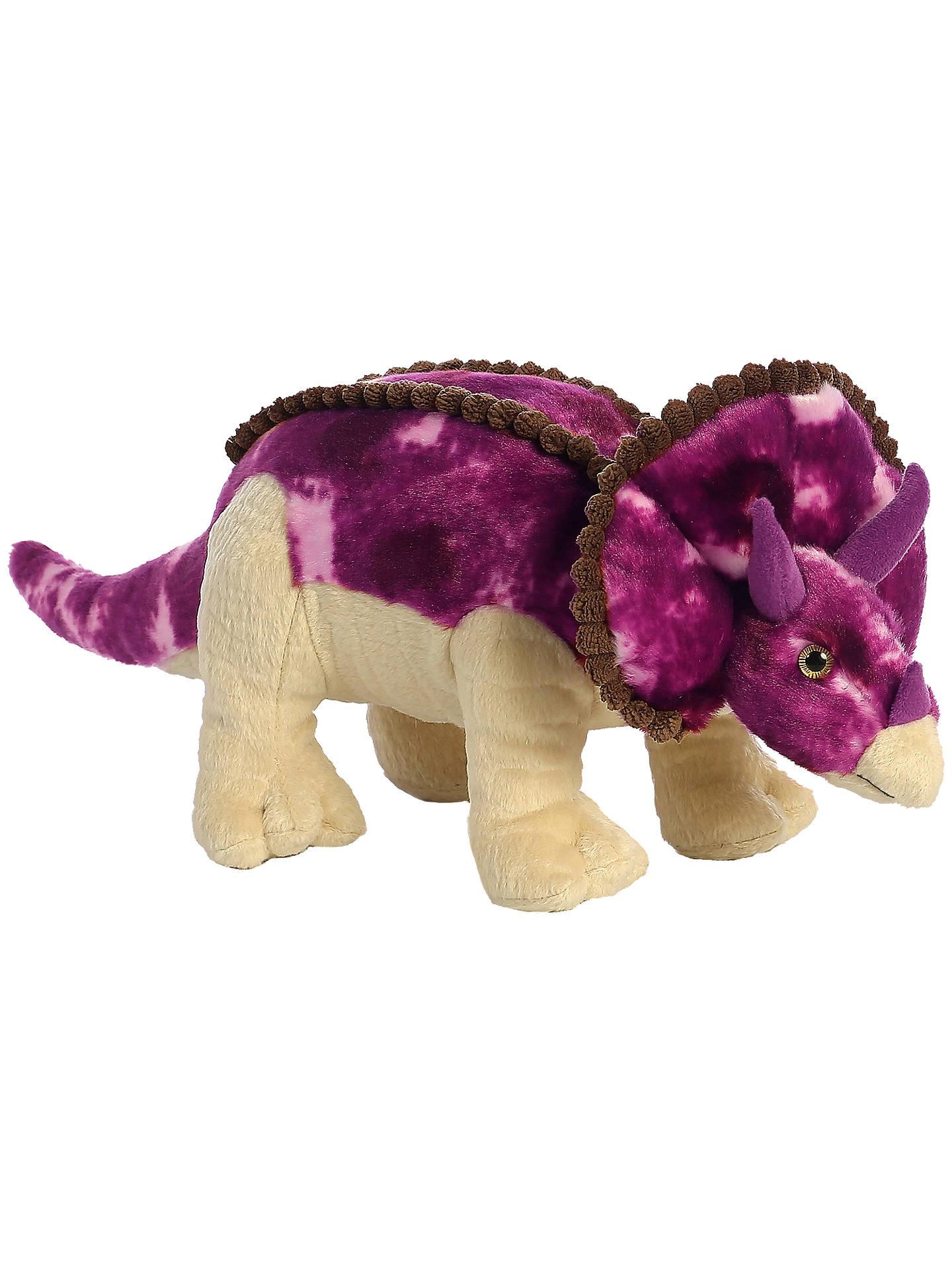 Aurora World Triceratops Dinosaur Soft Toy At John Lewis  Partners