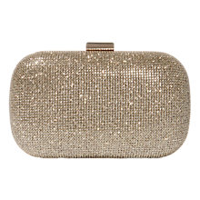 Buy Karen Millen Glitter Clutch, Gold Online at johnlewis.com