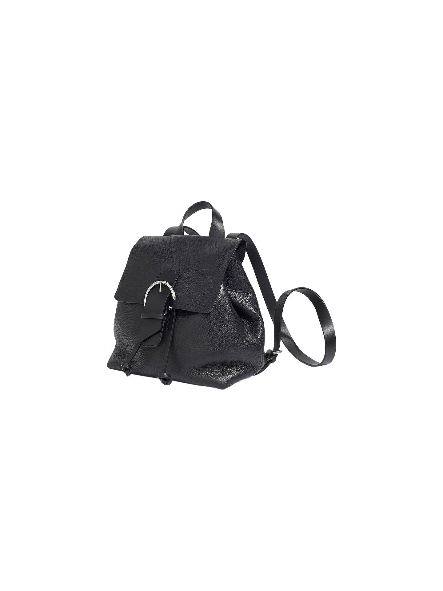 Jigsaw Bree Buckle Leather Backpack at John Lewis   Partners 41152d92c4c1a