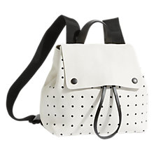 Buy Jigsaw Blake Perforated Zip Backpack, White Online at johnlewis.com
